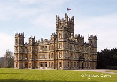Filming at Highclere Castle for Downton Abbey