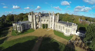 Filming at Highcliffe Castle as the Selfridge's Country Home in the Television Series Mr Selfridge